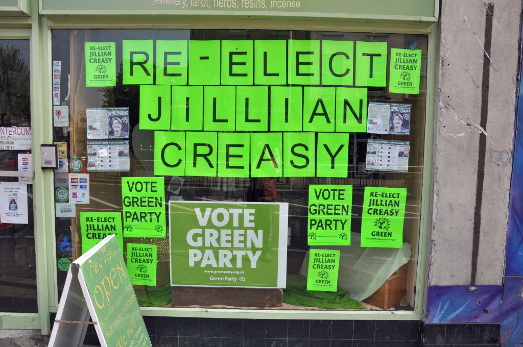 airy fairy shop window 2011 election campaign