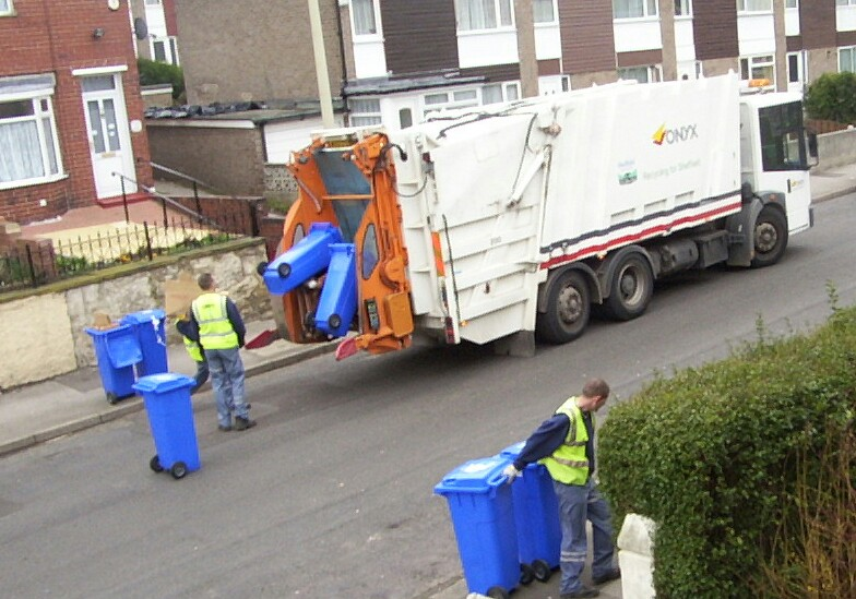 Blue bin Collection, Glencoe Road