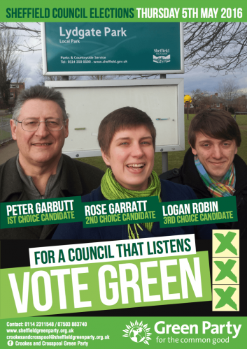 Crookes and Crosspool Election Leaflet 2016
