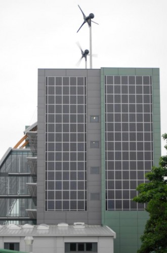 Sheffield City College wind and solar power