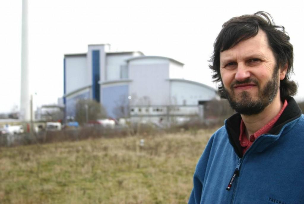 Graham Wroe outside the incinerator