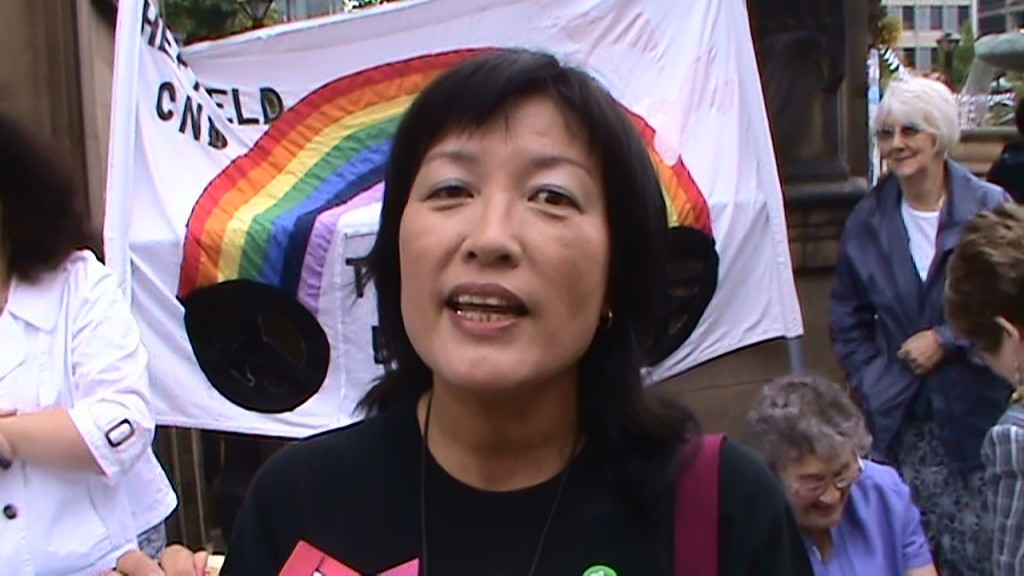 Keiko Miyamoto is a volunteer guide at the Hiroshima Peace Memorial Museum