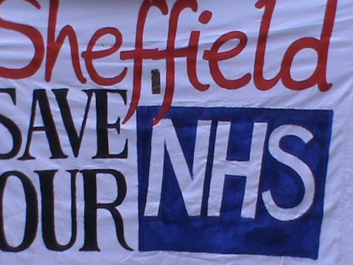 save our NHS banner
