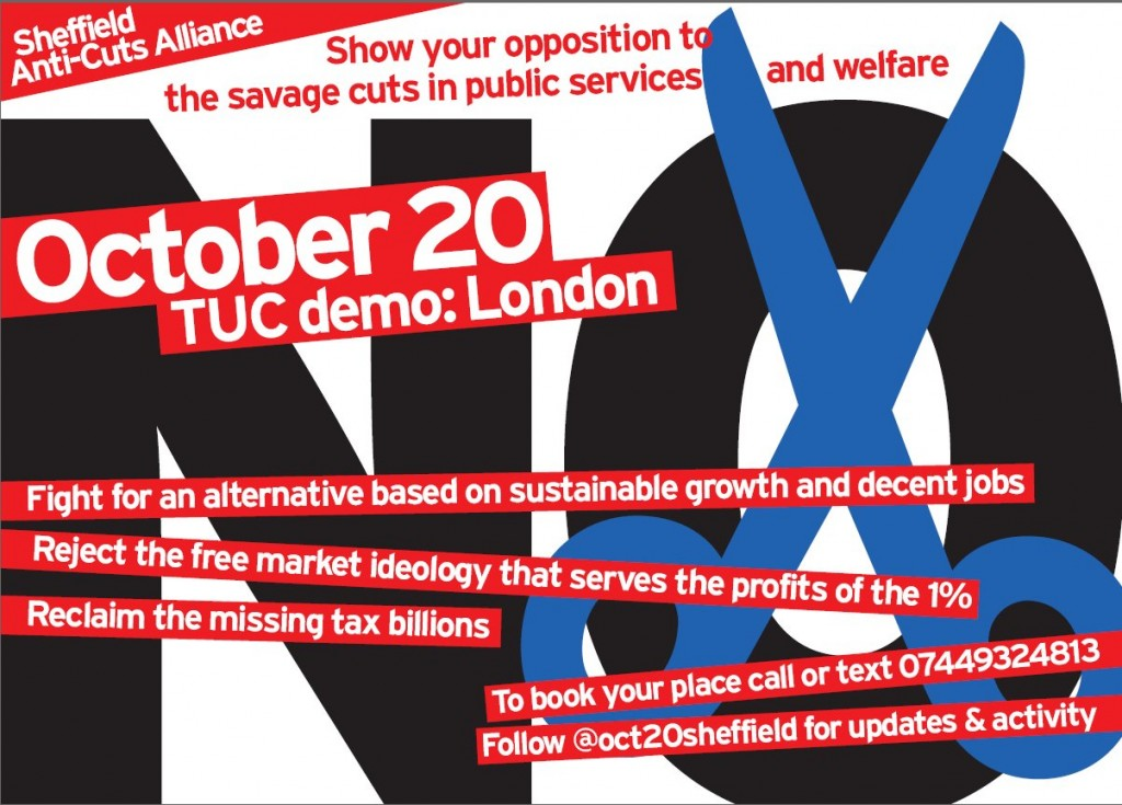 october 20th 2012 TUC demo in London against the cuts