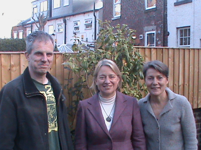 Councillors Rob Murphy and Jillian Creasy with Green Party Leader Natalie Bennett