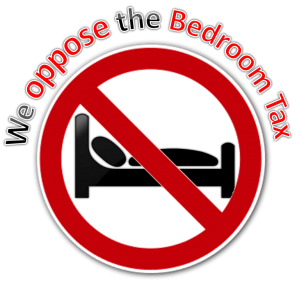 Logo shows we oppose the bedroom tax