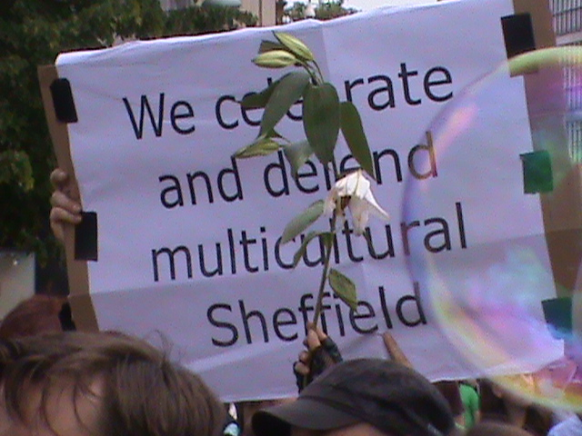 we celebrate and defenfd multicultural sheffield