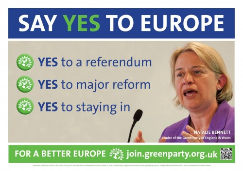 Say yes to europe - yes to a referendum, yes to major reform, yes to staying in