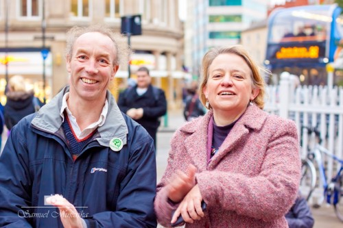 Douglas Johnson with Natalie Bennett