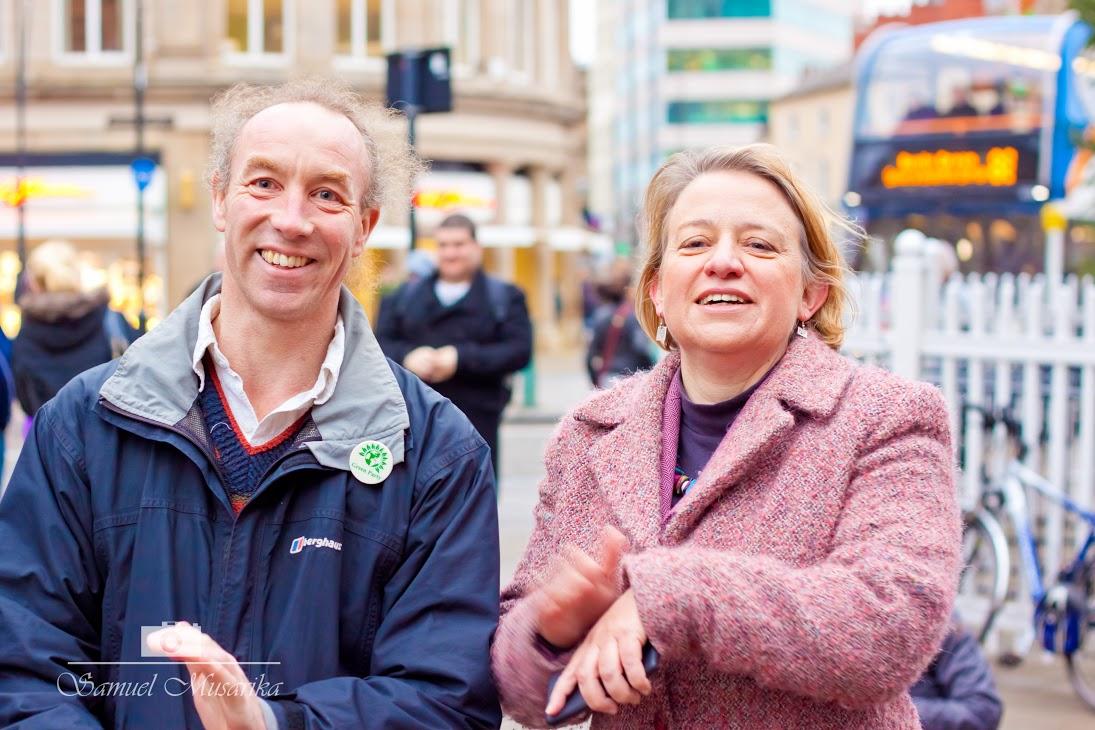 Douglas Johnson with Natalie Bennett