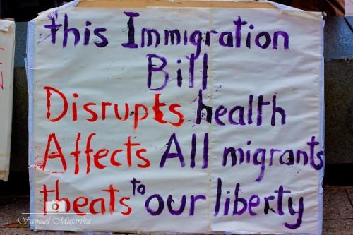 Immigration bill banner