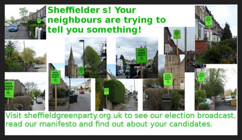 vote green placards