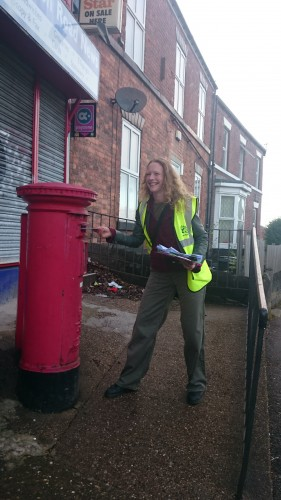 Sarah Jane posts her ballot paper.