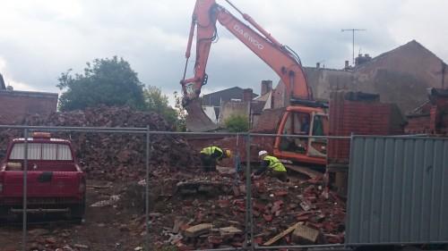 Demolition at Sharrow Lane