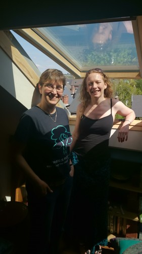 sarah jane smalley and jenny patient green homes event triple glazing