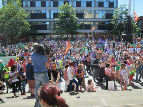 Rally in Barkers Pool 10th July 2014