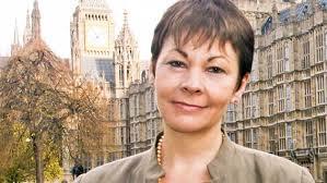 Caroline Lucas MP, at Westminster
