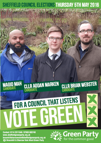 Broomhill Election Leaflet 2016