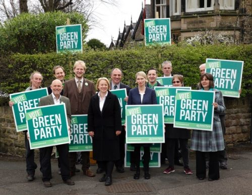 Natalie Bennet with Sheffield Green Party Candidates