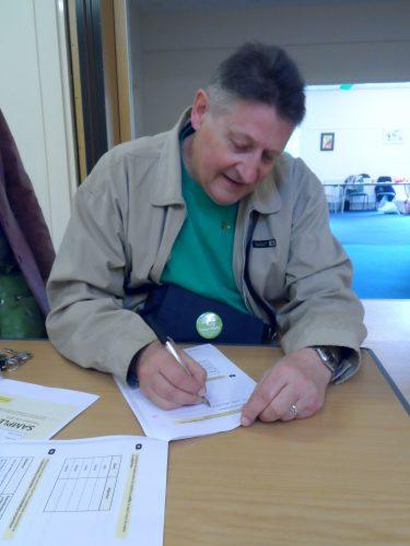 Peter Garbutt taking a SATS test