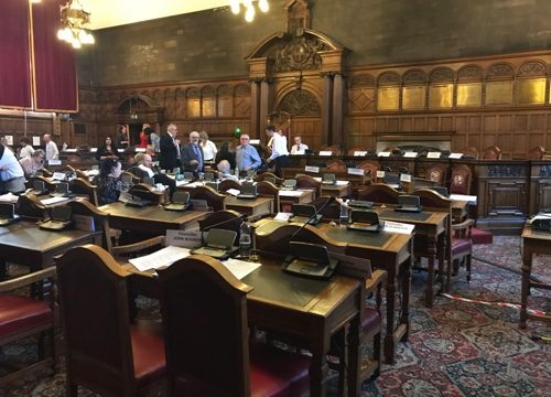Council chamber in chaos