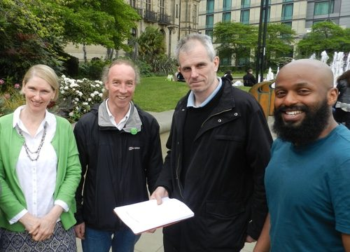 Green Councillors Alison Teal, Douglas Johnson, Rob Murphy and Magid