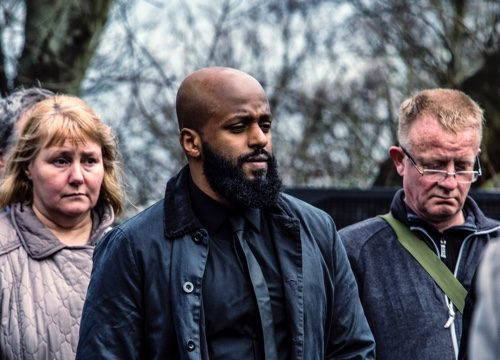 Cllr Magid Magid at the War Memorial and Tree Recognition Service in March last year