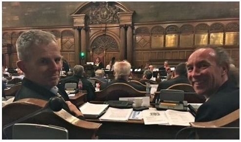 Rob Murphy & Douglas Johnson in Sheffield Council chamber