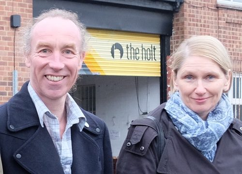 Cllrs Douglas Johnson and Alison Teal
